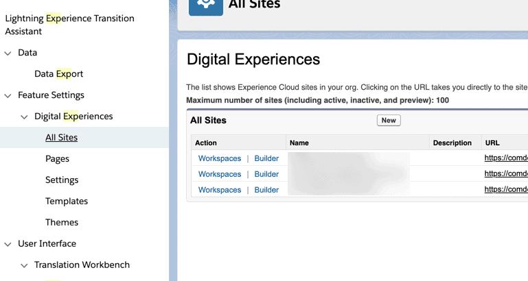 Salesforce Experience Cloud.