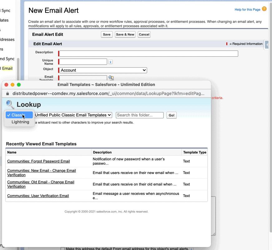 Lightning Email Templates in Automatisierungen.