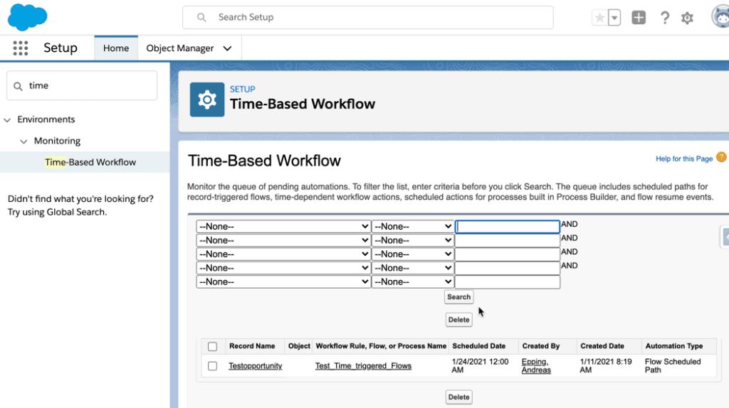 Time-Based Workflow Übersicht.