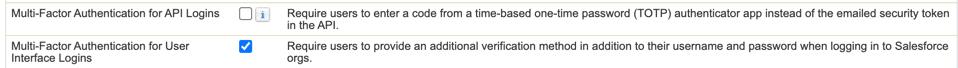 Salesforce Multi-Factor Authentication System Permissions.